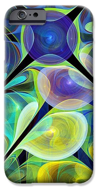 Rays iPhone Cases - Glow in the Dark iPhone Case by Anastasiya Malakhova