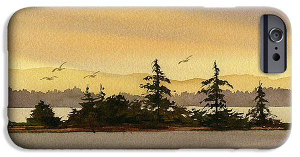 Landscape Greeting Cards iPhone Cases - Glow of Dawn iPhone Case by James Williamson