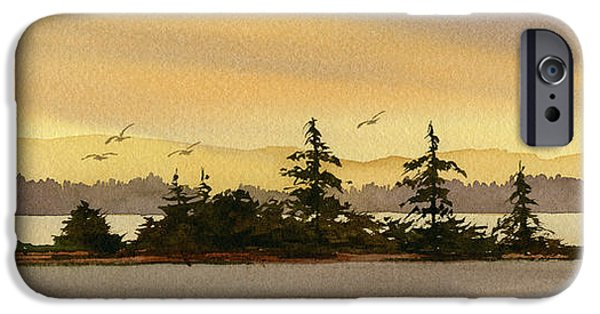 Seacoast iPhone Cases - Glow of Dawn iPhone Case by James Williamson