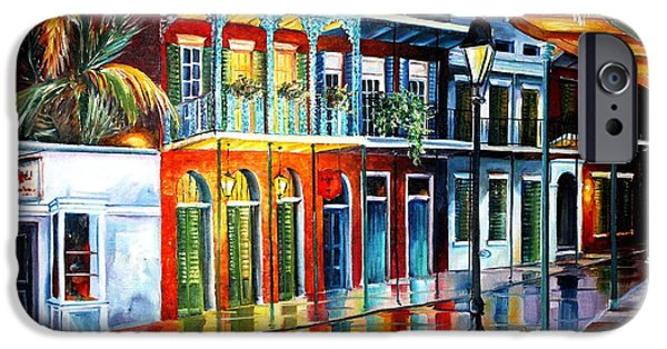 Recently Sold -  - Night Lamp iPhone Cases - Glow of the Vieux Carre iPhone Case by Diane Millsap