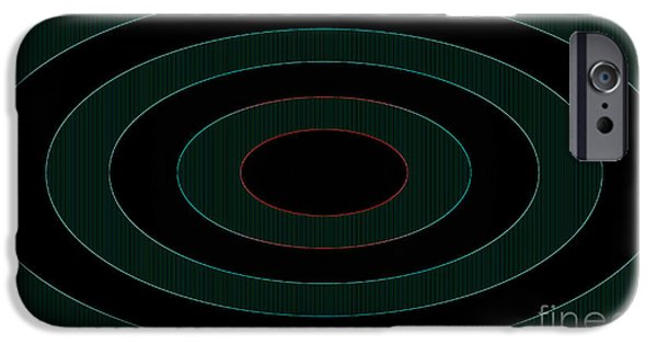 Multimedia iPhone Cases - Glow Rings iPhone Case by Tina M Wenger