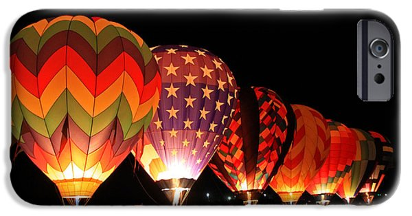 Hot Air Balloon iPhone Cases - Glow Show iPhone Case by Donna Kennedy