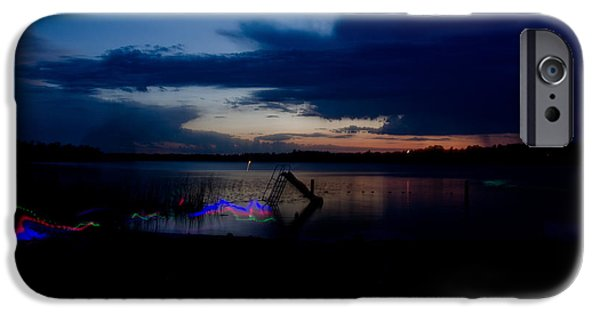 Independance Lake iPhone Cases - Glow Sticks iPhone Case by Cassie Marie Photography