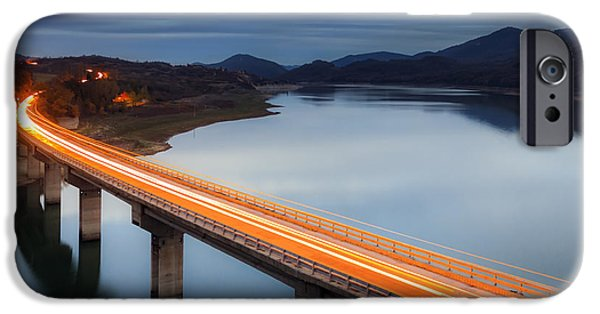 Autumn Road iPhone Cases - Glowing Bridge iPhone Case by Evgeni Dinev