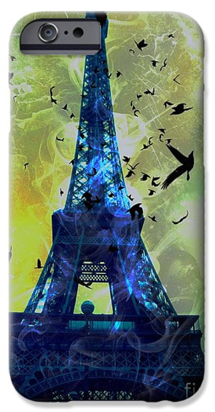 Epic iPhone Cases - Glowing Eiffel Tower iPhone Case by Marina McLain