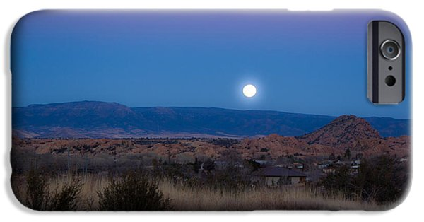 Watson Lake iPhone Cases - Glowing Full Moon iPhone Case by Phyllis Bradd