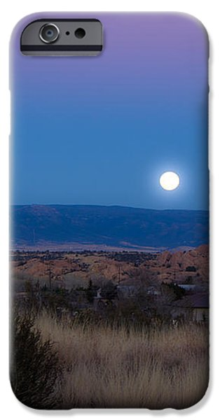 Glowing Full Moon iPhone Case by Phyllis Bradd