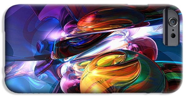 Pleasure Digital Art iPhone Cases - Glowing life Abstract iPhone Case by Alexander Butler