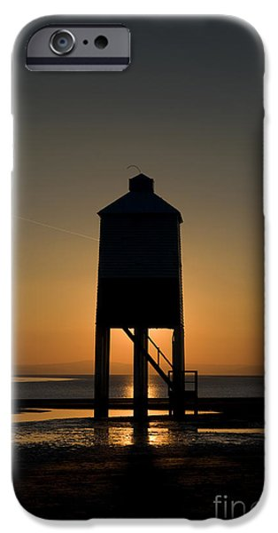 Glowing Lighthouse iPhone Case by Anne Gilbert