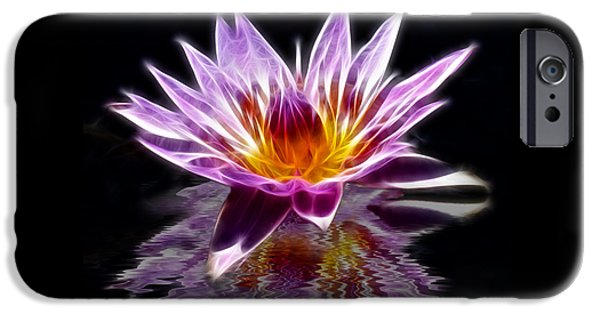 Photographs Mixed Media iPhone Cases - Glowing Lilly Flower iPhone Case by Shane Bechler
