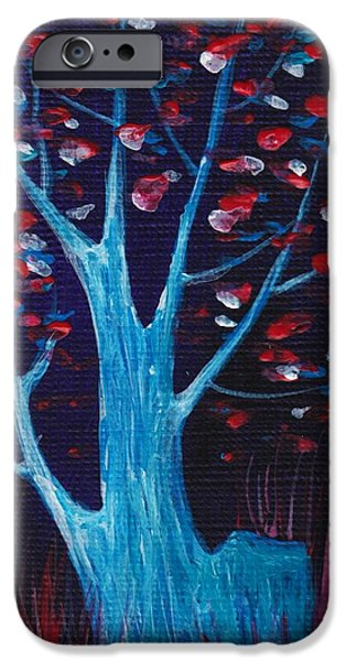 Cards iPhone Cases - Glowing Night iPhone Case by Anastasiya Malakhova