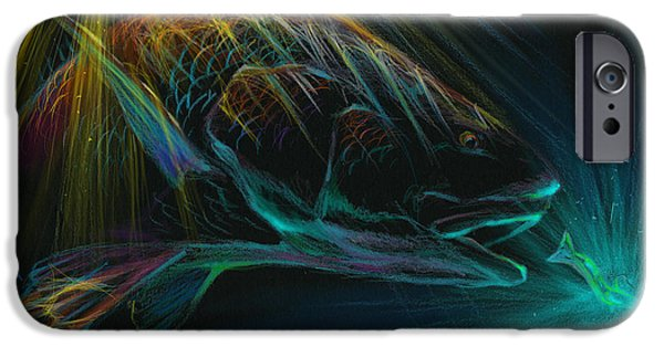 Redfish iPhone Cases - Glowing Reds  iPhone Case by Yusniel Santos
