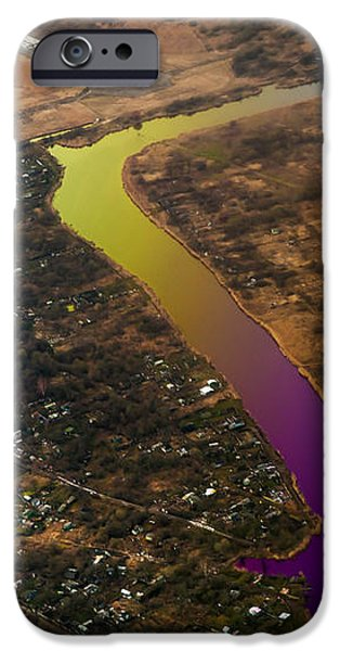 Glowing River. Rainbow Earth iPhone Case by Jenny Rainbow