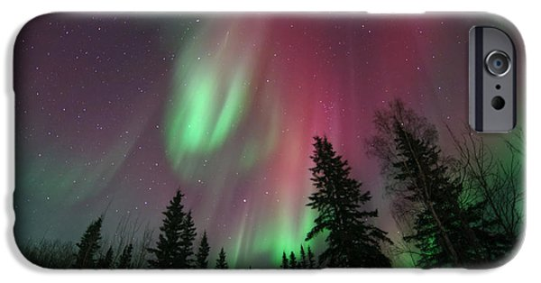 Glowing iPhone Cases - Glowing Skies iPhone Case by Priska Wettstein