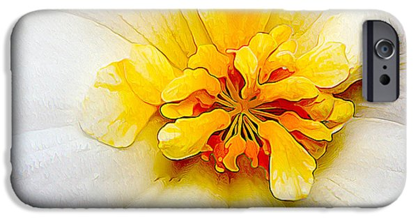 Floral Digital Art Digital Art iPhone Cases - Glowing Softly - Kindness iPhone Case by Bill Caldwell -        ABeautifulSky Photography