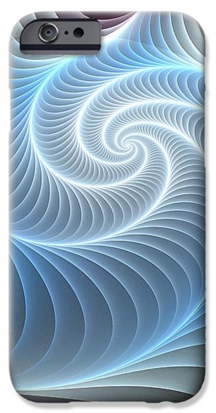 Large iPhone Cases - Glowing Spiral iPhone Case by Anastasiya Malakhova