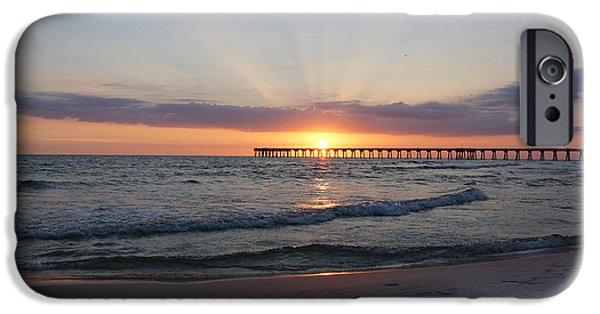 Panama City Beach Photographs iPhone Cases - Glowing Sunset iPhone Case by Sandy Keeton