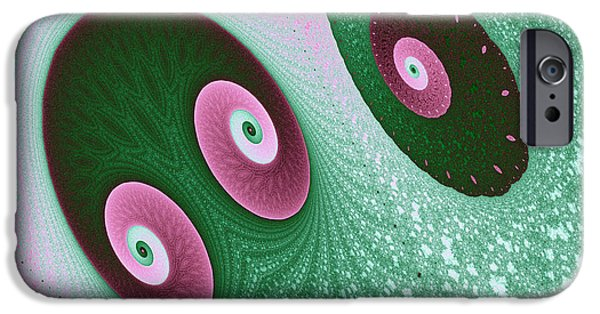 Glynn iPhone Cases - Glynn and Spiral iPhone Case by Mark Eggleston