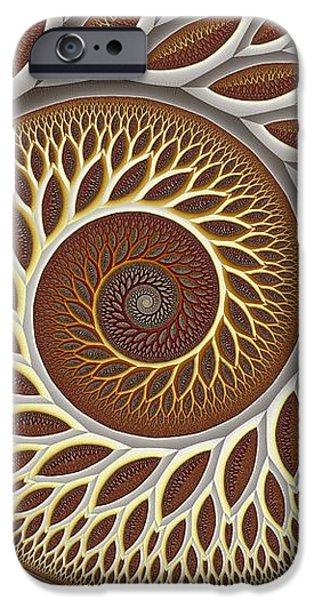 Glynn Spiral No. 2 iPhone Case by Mark Eggleston