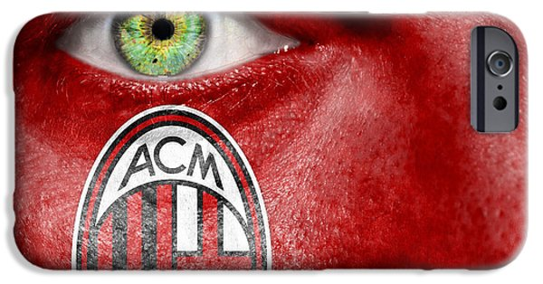 Following iPhone Cases - Go AC Milan iPhone Case by Semmick Photo