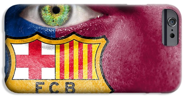 Following iPhone Cases - Go FC Barcelona iPhone Case by Semmick Photo