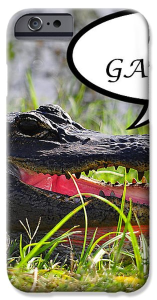 GO GATORS Greeting Card iPhone Case by Al Powell Photography USA