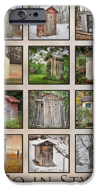 Recently Sold -  - Rural iPhone Cases - Go In Style - Outhouses iPhone Case by Lori Deiter