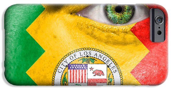 Stripe.paint iPhone Cases - Go Los Angeles iPhone Case by Semmick Photo