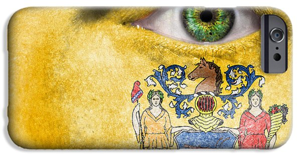 Goddess Of Liberty iPhone Cases - Go New Jersey iPhone Case by Semmick Photo