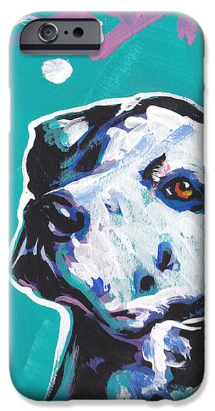 Recently Sold -  - Puppies iPhone Cases - Go Spot Go iPhone Case by Lea
