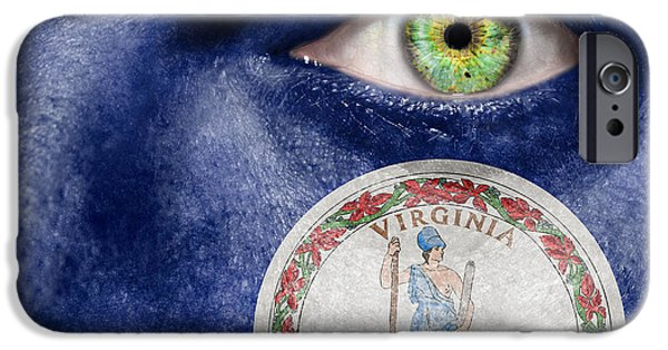 Old Blue Eyes iPhone Cases - Go Virginia iPhone Case by Semmick Photo