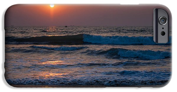 Pleasure iPhone Cases - Goan Sunset 1. India iPhone Case by Jenny Rainbow