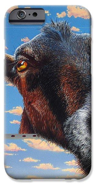 Goat a la Magritte iPhone Case by Jurek Zamoyski