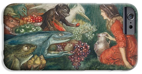 Fable iPhone Cases - Goblin Harvest iPhone Case by Amelia M Bowerley