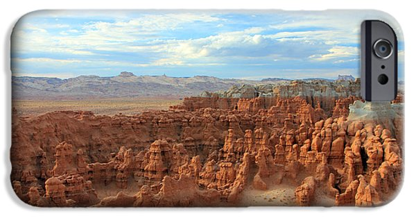 Surreal Landscape iPhone Cases - Goblin Valley iPhone Case by Johnny Adolphson