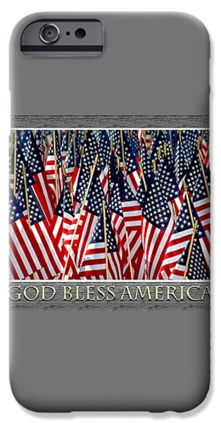 God Bless America iPhone Case by Carolyn Marshall