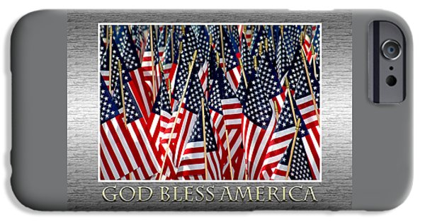 4th July Photographs iPhone Cases - God Bless America iPhone Case by Carolyn Marshall