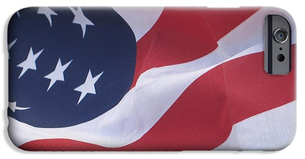 American Flag iPhone Cases - God Bless America iPhone Case by Chrisann Ellis