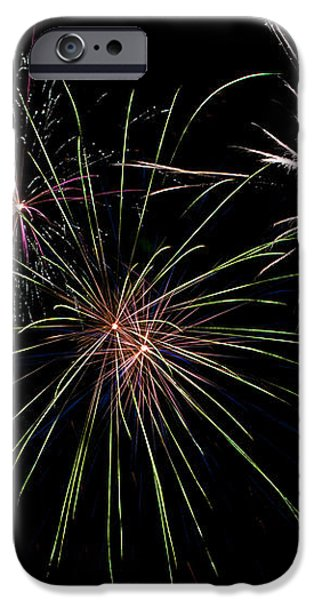 God Bless America Fireworks iPhone Case by Christina Rollo