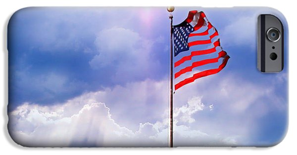 Freedom iPhone Cases - God Bless America iPhone Case by Kume Bryant