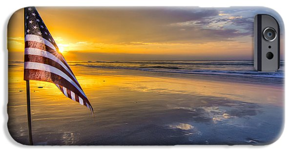 Old Glory iPhone Cases - God Bless America iPhone Case by Matthew Trudeau
