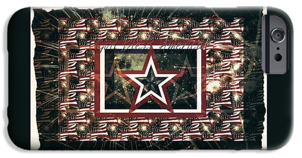 Recently Sold -  - 4th July Drawings iPhone Cases - God Bless America iPhone Case by Sherry Flaker