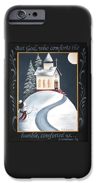 God Comforts the Humble iPhone Case by Catherine Holman