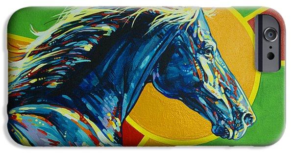 American Quarter Horse iPhone Cases - God Dog iPhone Case by Derrick Higgins