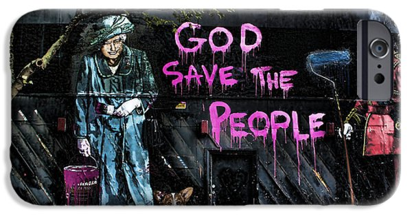 Royalty iPhone Cases - God Save The Queen iPhone Case by Jasna Buncic