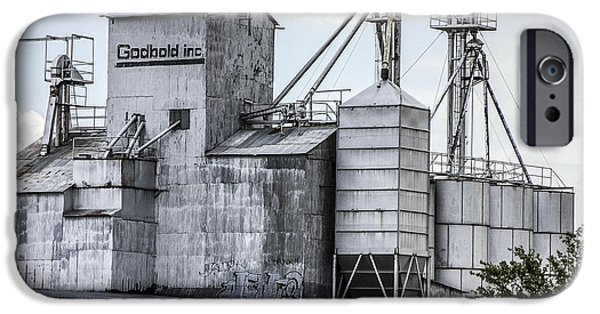 Feed Mill Photographs iPhone Cases - Godbold is a feed mill producer in Marfa iPhone Case by Rebecca Dru