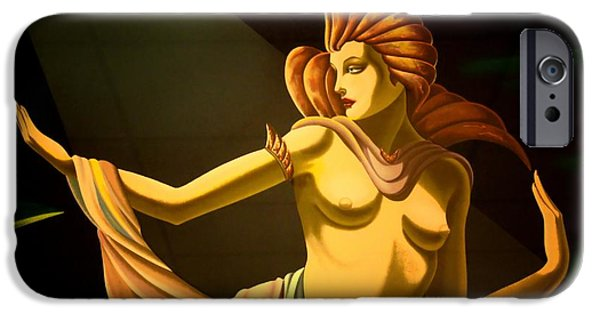 Abnormal iPhone Cases - Goddess 2 iPhone Case by Newel Hunter