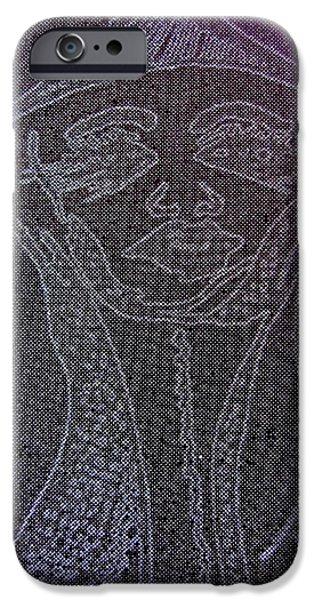 Archetype Paintings iPhone Cases - Goddess Archetype of Allowing iPhone Case by Lady Picasso Tetka Rhu