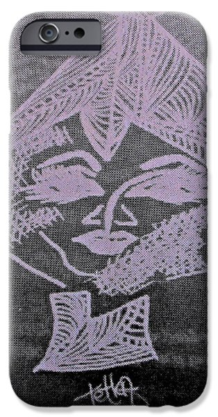 Archetype Paintings iPhone Cases - Goddess Archetype of Gratitude iPhone Case by Lady Picasso Tetka Rhu