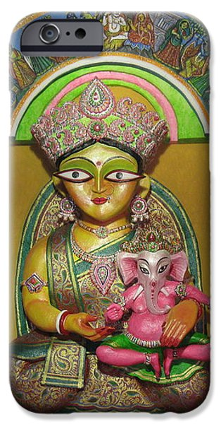 Goddess Durga iPhone Case by pradipkumarpaswan